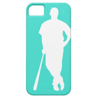 Turquesa; Béisbol del verde azul, softball Funda Para iPhone SE/5/5s