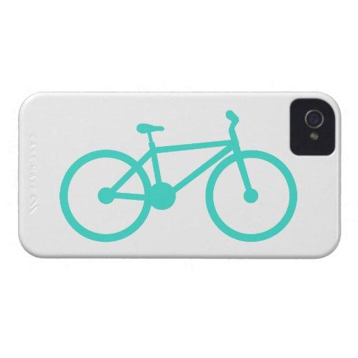Turquesa; Bicicleta del verde azul iPhone 4 Case-Mate Cárcasa