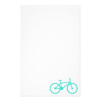 Turquesa; Bicicleta del verde azul Papelería Personalizada