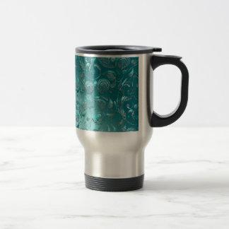 Turquesa brillante de Paisley Taza De Café