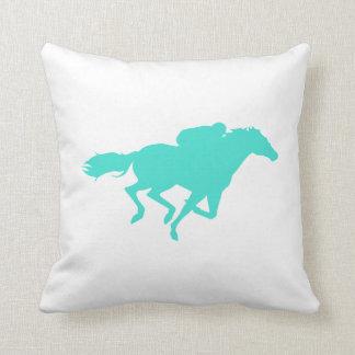 Turquesa; Carrera de caballos del verde azul Almohada