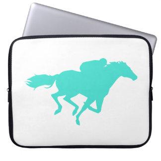 Turquesa; Carrera de caballos del verde azul Fundas Ordendadores