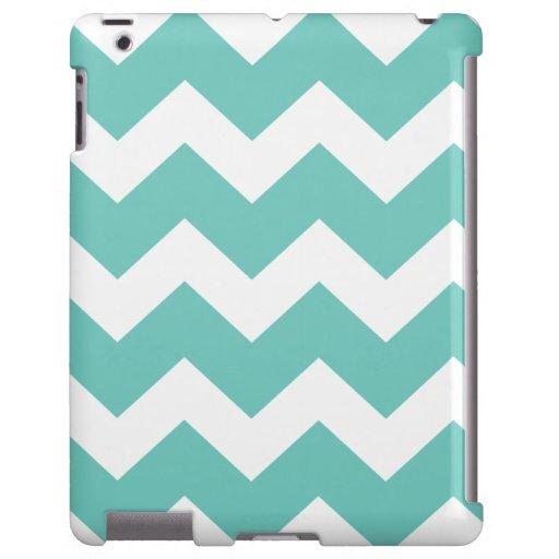 Turquesa Chevron Funda Para iPad