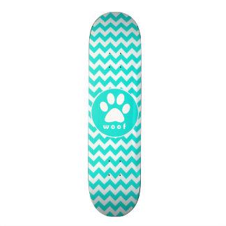 Turquesa, color Chevron de la aguamarina; Impresió Skateboard