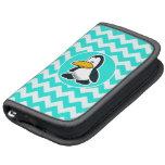 Turquesa, color Chevron de la aguamarina; Pingüino Organizador