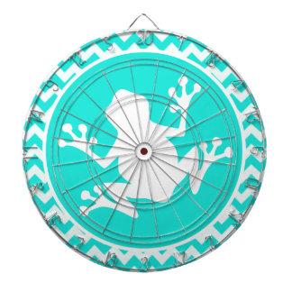 Turquesa, color Chevron de la aguamarina; Rana