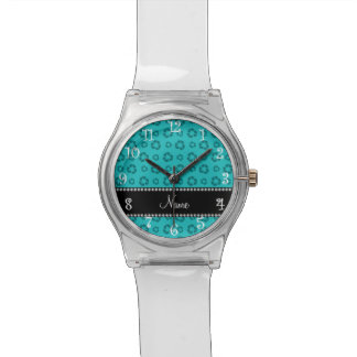 Turquesa conocida personalizada que recicla el reloj