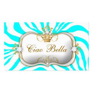 turquesa de la cebra de 311-Ciao Bella Tarjetas De Visita
