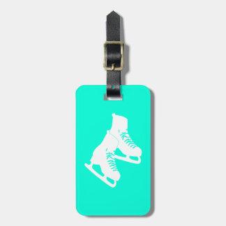 Turquesa de la etiqueta del equipaje de los patine etiqueta para equipaje