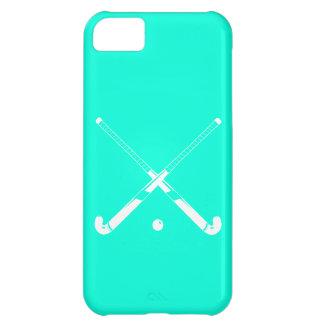 turquesa de la silueta del hockey hierba del iPhon