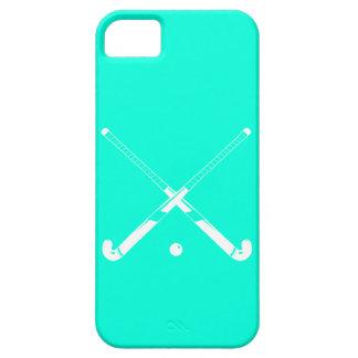 turquesa de la silueta del hockey hierba del iPhon iPhone 5 Case-Mate Coberturas