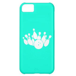 turquesa de la silueta del iPhone que rueda 5 Funda Para iPhone 5C