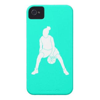 turquesa de la silueta del regate de la casamata Case-Mate iPhone 4 protectores