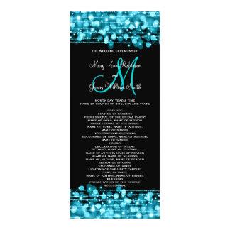 Turquesa de las chispas del fiesta del programa invitación 10,1 x 23,5 cm