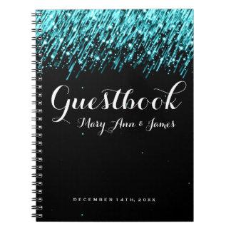 Turquesa de las estrellas el caer del Guestbook de Libretas
