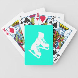 Turquesa de los naipes de los patines de hielo baraja cartas de poker