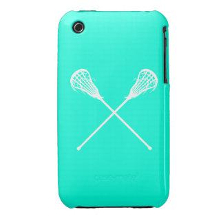 turquesa de los palillos de LaCrosse del iPhone 3 Case-Mate iPhone 3 Cárcasas