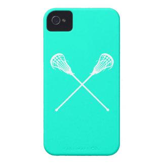 turquesa de los palillos de LaCrosse del iPhone 4 iPhone 4 Case-Mate Protector