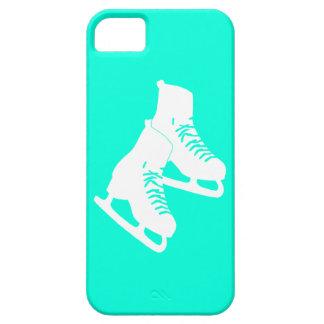 turquesa de los patines de hielo del iPhone 5 iPhone 5 Funda