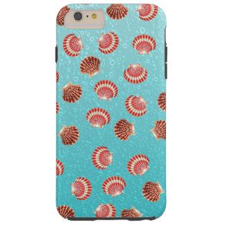 Turquesa de los Seashells Funda Para iPhone 6 Plus Tough