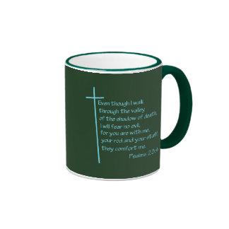 Turquesa del 23:4 de los salmos tazas de café