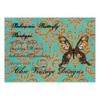 Turquesa del boutique de la mariposa y Dama Tarjetas De Visita Grandes