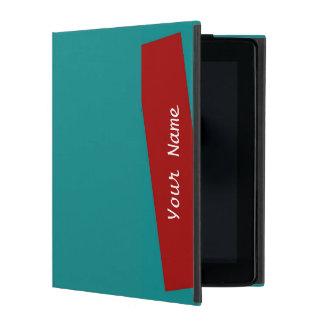 turquesa del caso en folio del iPad 2/3/4/raya