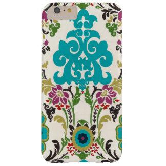 Turquesa del ciruelo de los estampados de flores funda para iPhone 6 plus barely there