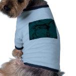 turquesa del esqueleto del caballo camisas de perritos