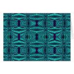 turquesa del fractal tarjeta de felicitación