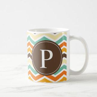 Turquesa del naranja de Brown del monograma de Che Taza De Café