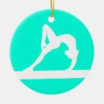 Turquesa del ornamento de la silueta del gimnasta ornamento de reyes magos