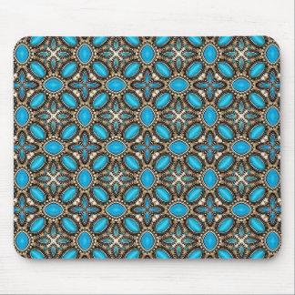 Turquesa del sudoeste y joyería americanas de la p mouse pads