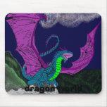turquesa dragon5, mundo del dragón alfombrilla de ratón