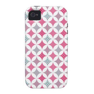 Turquesa dulce y extracto rosado iPhone 4 carcasa