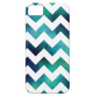 Turquesa e iPhone azul 5/5s de Chevron de la Funda Para iPhone 5 Barely There