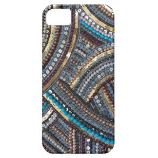 Turquesa elegante con lentejuelas iPhone 5 protector