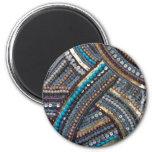 Turquesa elegante con lentejuelas imán de frigorifico