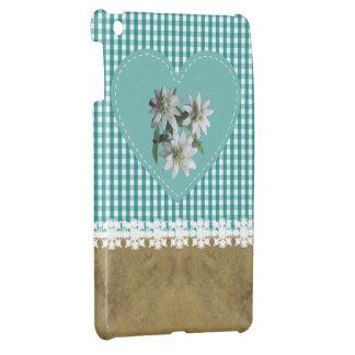Turquesa en la turquesa - encajone el mini lustre  iPad mini coberturas