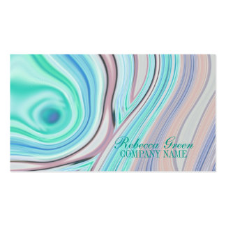 turquesa femenina moderna del coral de la belleza tarjetas de visita