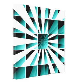 Turquesa geométrica abstracta impresiones de lienzo