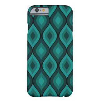 Turquesa geométrica oval Curvy del | Funda Para iPhone 6 Barely There
