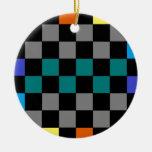 Turquesa gris 2 azulverdes del arco iris del table adorno de reyes