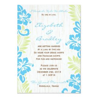 Turquesa hawaiana tropical de la invitación del