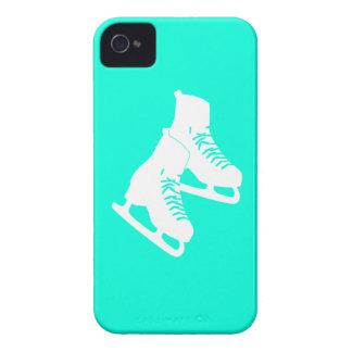Turquesa intrépida de los patines de hielo de iPhone 4 carcasa