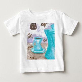 Turquesa moderna retra Java Brown del diseño del Camiseta