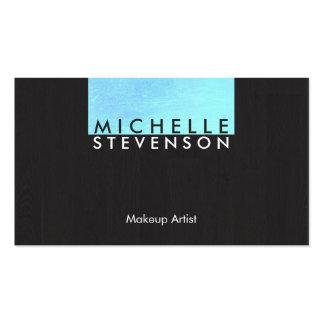 Turquesa moderna y elegante del artista de maquill tarjetas de visita