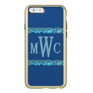 Turquesa-MWC del cristal de colores Funda Para iPhone 6 Plus Incipio Feather Shine