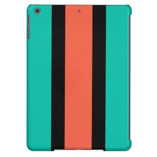 Turquesa, naranja y negro funda iPad air