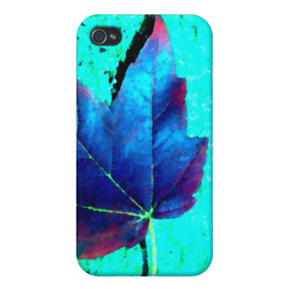 Turquesa - naturaleza de la hoja - arte de Cricket iPhone 4/4S Fundas